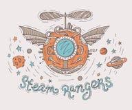 Иллюстрация Steampunk Стоковое Изображение