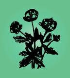 Иллюстрация waterlily на зеленой предпосылке Стоковое Изображение RF