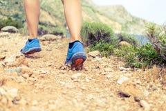 Идя или бежать подошва ботинка спорт Стоковая Фотография