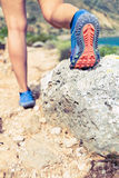 Идя или бежать подошва ботинка спорт Стоковое Изображение