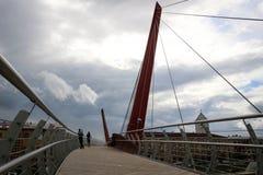 Идя мост в городе Jelgava, Латвии Стоковая Фотография