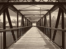 Идя мост стоковые фотографии rf