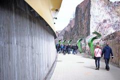 Идя путь к арене Hartwall в Хельсинки, Финляндии Стоковое фото RF