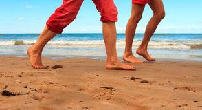 Идя пляж Стоковое Изображение RF