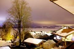 Идя снег ноча в сельской местности в Germnay Стоковая Фотография RF