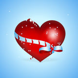 �ackground with heart for Valentines day Stock Photo