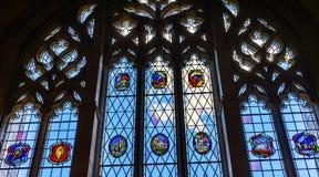 Йельский университет New Haven Коннектикут библиотеки закона витража Стоковое Изображение RF