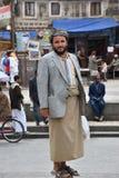 Йеменский человек на улице в Sanaa, Йемене Стоковое Изображение RF