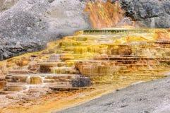 Йеллоустон, Mammoth Hot Springs Стоковое фото RF