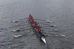 Йельский университет участвует в гонке в голове регаты Чарльза Стоковое Изображение