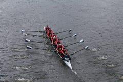 Йельский университет участвует в гонке в голове регаты Чарльза Стоковые Фото