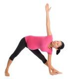 Йога беременности стоковая фотография