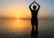 йога восхода солнца Стоковое Изображение