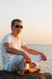 йога восхода солнца Стоковая Фотография