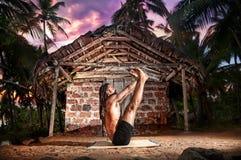 Йога в Индии Стоковое Изображение