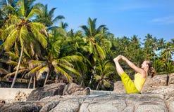 Йога в Индии Стоковая Фотография