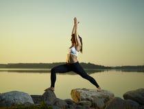 Йога в утре Стоковые Фотографии RF