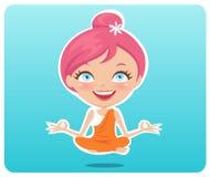 йога девушки Стоковые Изображения RF