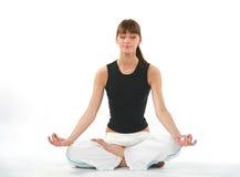 йога девушки Стоковая Фотография