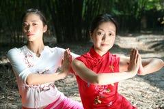 йога девушки Стоковое фото RF