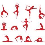 Йога для всех иллюстрация вектора