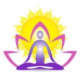 Йога для здорового здоровья раздумья жизни Стоковая Фотография RF