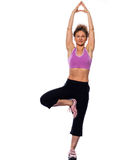 йога женщины вала представления Стоковые Фото