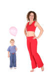 йога женщины младенца Стоковые Изображения