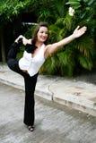 йога женщины стоковые изображения