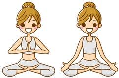 йога женщин Стоковая Фотография RF