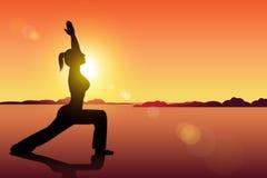 Йога женщин Стоковые Изображения