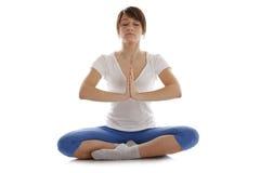 йога изображения девушки практикуя Стоковое Изображение