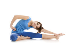 йога изображения девушки практикуя Стоковые Фотографии RF