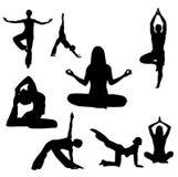 йога иллюстрации Стоковое Изображение RF