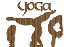 йога картона предпосылки иллюстрация вектора