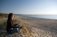 йога моря Стоковое Фото