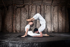 йога пар Стоковое Изображение