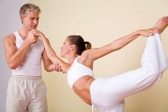 йога пар Стоковое фото RF
