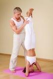 йога пар Стоковые Изображения