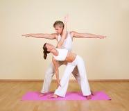 йога пар Стоковые Фото