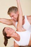 йога пар Стоковая Фотография