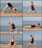 йога пляжа стоковая фотография