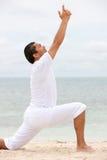 йога пляжа Стоковые Фото