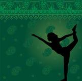 йога предпосылки зеленая Стоковая Фотография RF