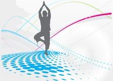 йога предпосылки Стоковая Фотография