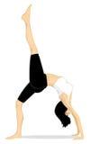 йога предпосылки изолированная девушкой белая Стоковое фото RF