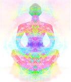 йога представления лотоса Стоковая Фотография RF