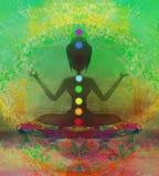 йога представления лотоса Стоковые Изображения RF