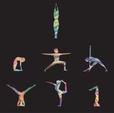 Йога представляет asana в акварели Стоковая Фотография