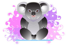 Йога приниманнсяая за коалой Стоковое Фото